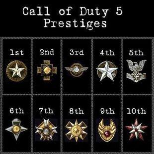 Call of duty 5 prestige