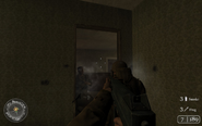 Engaging enemy behind table Approaching HIll 400 CoD2