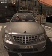Volk getting away in car