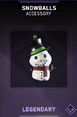 Snowballs Accessory Supply Drop Card IW