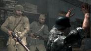 Soviet soldiers executing German prisoner Eviction WaW