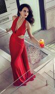 Eva green red gown campari 20155