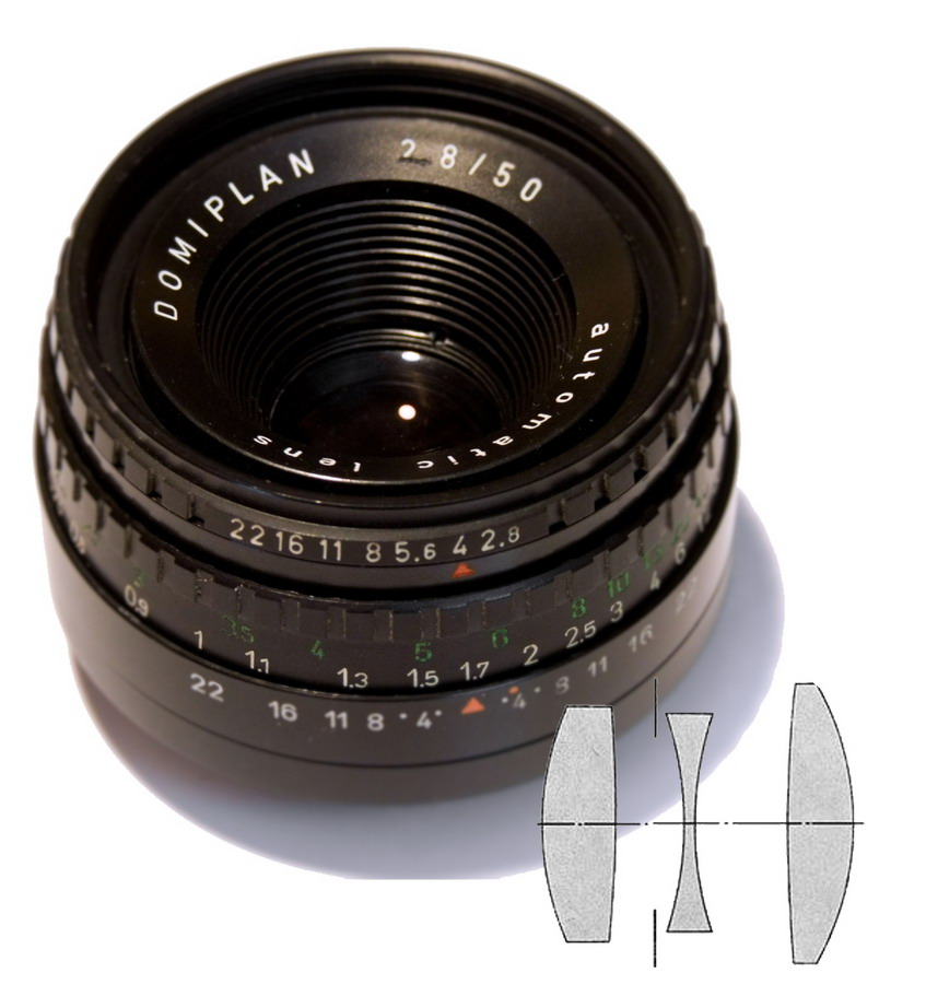 Domiplan 2,8/50 Automatic Lens