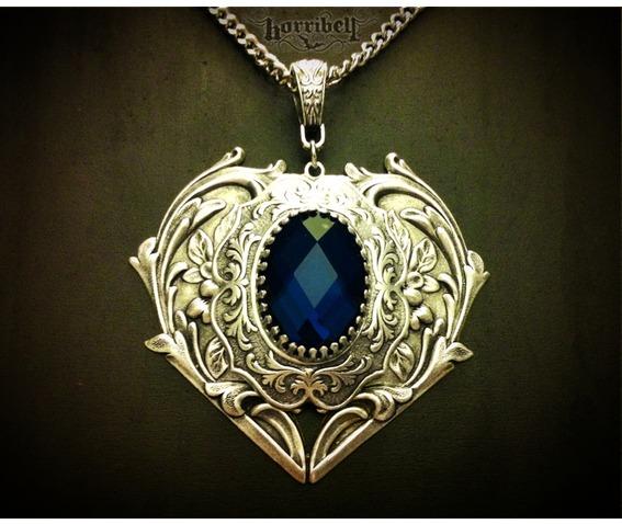 Hearts necklace dark blue stone necklaces.jpg