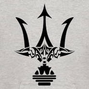 Double-sided-print-poseidon-trident-kid-size-hoodie design