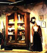 Wooden display case at Paramount Studio Store