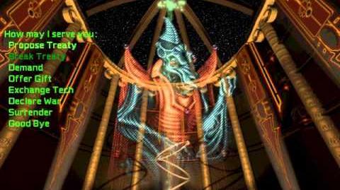 Master of Orion 2 Soundtrack - Diplomat - Avian Alkari (Fully animated)