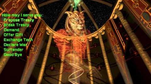 Master of Orion 2 Soundtrack - Diplomat - Feline Mrrshan (Fully animated)