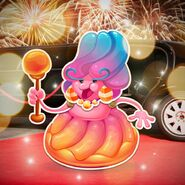 Jelly Queen in holiday season with limousine car