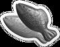 Double delish fish Icon gray