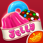 Candy Crush Jelly Saga RED facebook logo