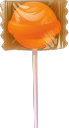 Wrapped lollipop vector