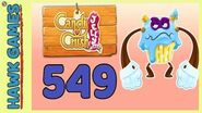 Candy Crush Jelly Saga Level 549 Super hard (Puffler Boss mode) - 3 Stars Walkthrough, No Boosters