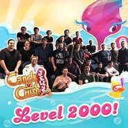 Candy Crush Jelly team Celerbating 2000 Levels