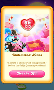 Free Gift Unlimited Lives Jelly Queen's party 2