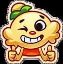 Jenny emoji blink