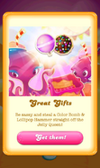 Free Gift Lollipop hammer Color bomb Jelly Queen's party 3