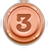 Medal brown 3 position