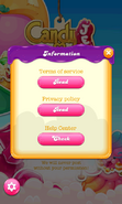 Candy Crush Jelly Saga Information tab