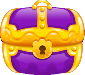 Treasure chest purple closed