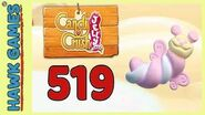 Candy Crush Jelly Saga Level 519 Hard (Puffler mode) - 3 Stars Walkthrough, No Boosters