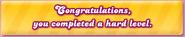Hard Level - Congraturations