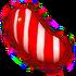 Striped red v