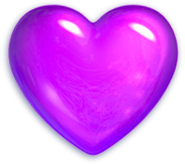 Purplecandy heart valentine