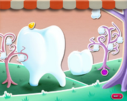 Teeth during the regular candy attack