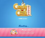 Candy Crush Saga Logo loading