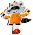 Mr. Raccoon character after