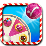 Lucky candy booster wheel icon