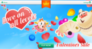 Valentine's sale cover on King