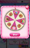 Win moves wheel