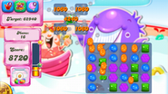 Effect of Candy Frog when it lands on a square with regular jellies around it
