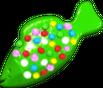 Green Colour Bomb Fish