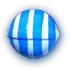 Striped blue v