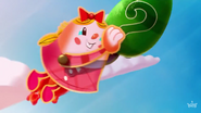 Tiffi grabbing a mystery candy in mid-air