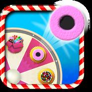 Coconut wheel booster wheel icon