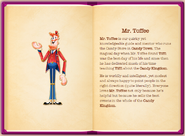 Mr. Toffee's particulars