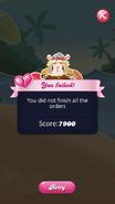 New Level Failed Screen October 2020