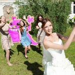 Bubblegum Troll in bride throwing bouquet.jpg