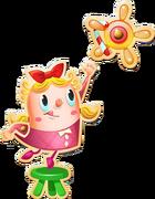Tiffi takes candycane