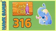 Candy Crush Soda Saga Level 316 (Frosting mode) - 3 Stars Walkthrough, No Boosters
