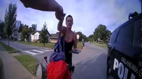 Kelsey Pierce stopped by OKCPD Officer J