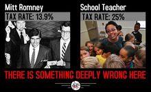 Mitt Romney tax rate vs teacher 2
