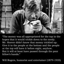 Will Rogers on trickle down