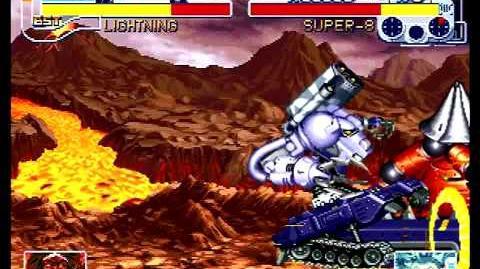 Cyberbots Fullmetal Madness (Sega Saturn) Arcade Mode as Santana (Lightning)