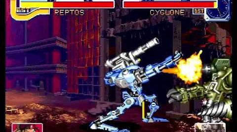 Cyberbots Fullmetal Madness (Sega Saturn) Arcade Mode as Mary (Reptos)