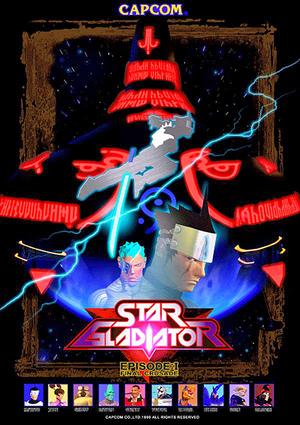 Star Gladiator - Episode 1 Final Crusade arcade flyer.png